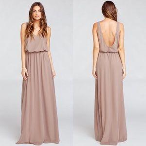 Show Me Your Mumu Kendall Maxi Dress Dune Chiffon
